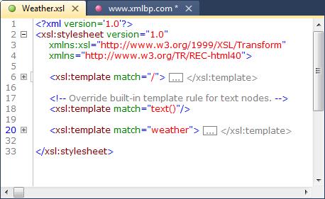 Xml editor xmlblueprint xml folding malvernweather Choice Image