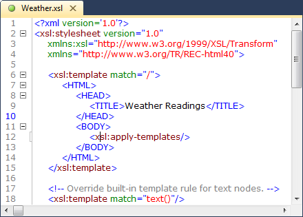 Xml editor xmlblueprint syntax coloring is automatically shown in all xml documents but also in html css java and javascript files you can customize the text colors and the malvernweather Image collections