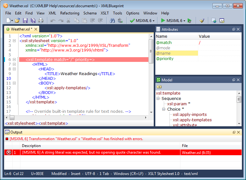 Click to view XMLBlueprint XML Editor 8.7 screenshot
