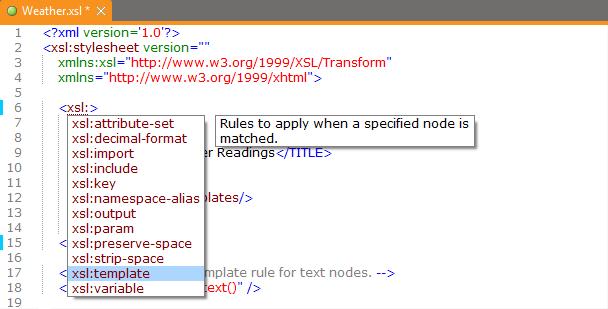 Editing your XML Documents