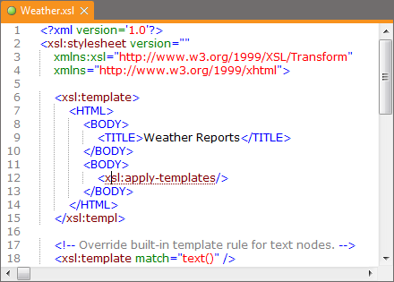 Xml editor xmlblueprint syntax coloring is automatically shown in all xml documents but also in html css java and javascript files you can customize the text colors and the malvernweather Choice Image