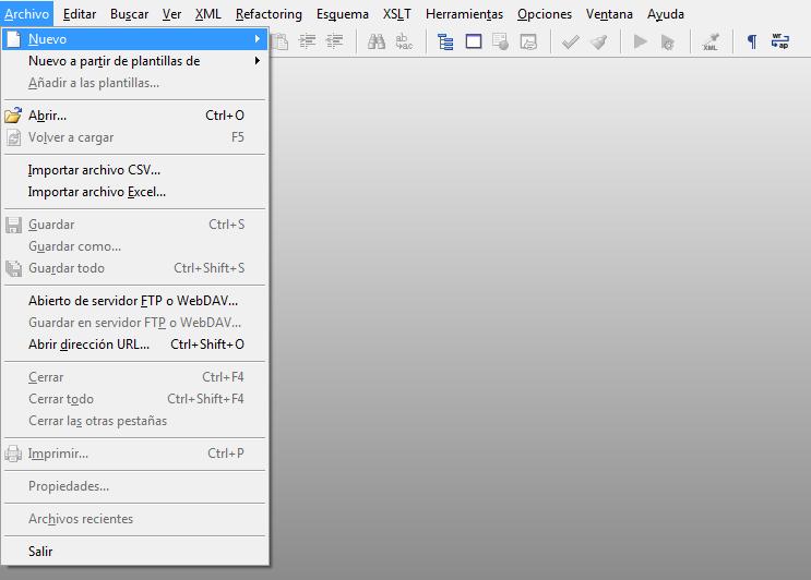 Editor de XML Español - XMLBlueprint