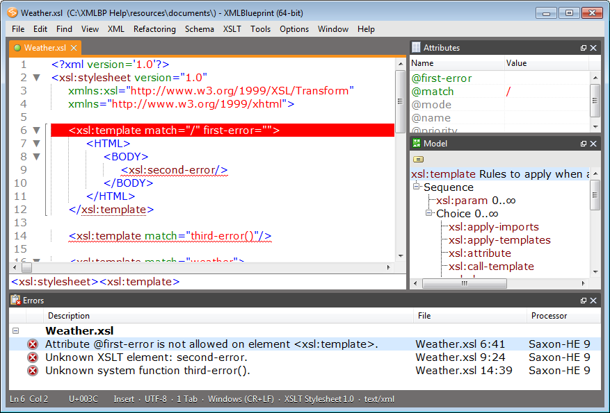 xmlblueprint xml editor screenshot light